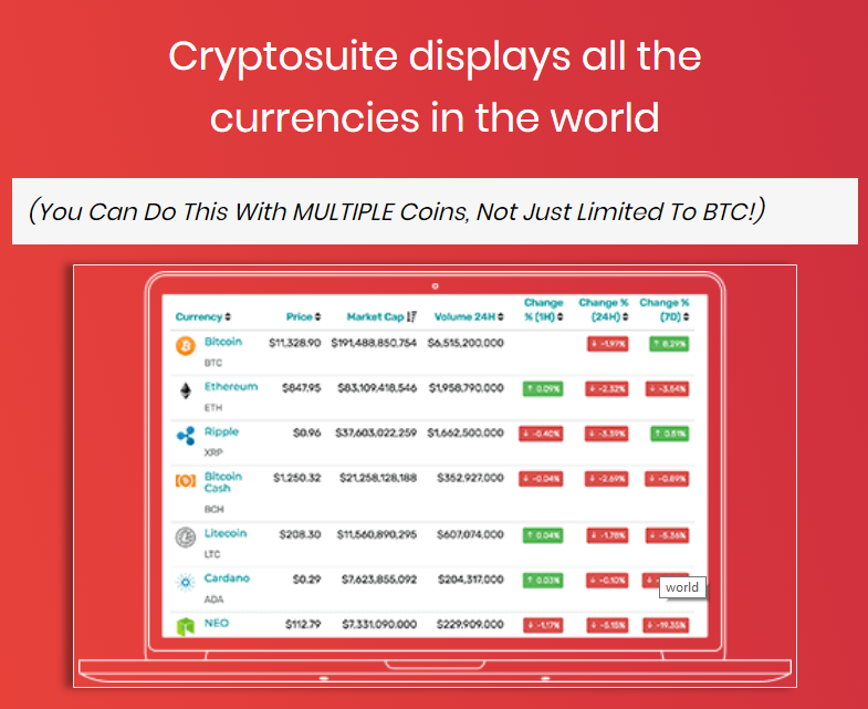 CryptoSuite Cryptocurrency trading software